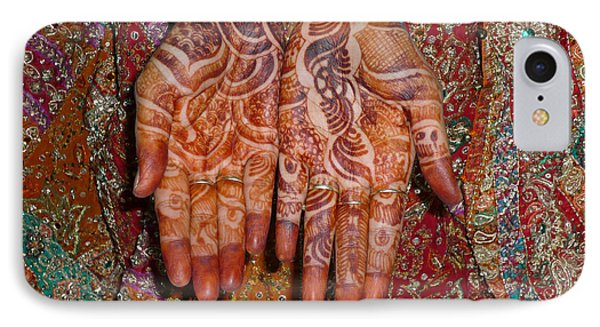 The Wonderfully Decorated Hands And Clothes Of An Indian Bride IPhone Case