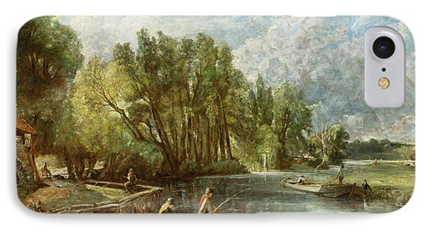 The Young Waltonians - Stratford Mill Phone Case by John Constable
