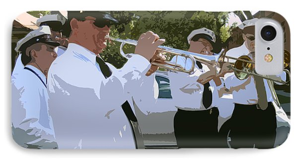 Third Line Brass Band Phone Case by Renee Barnes
