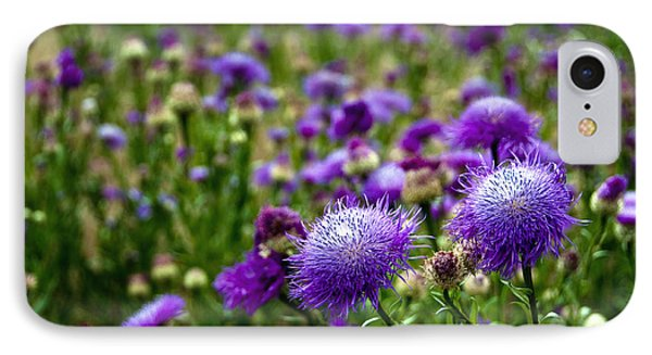 Thistle Field Phone Case by Tamyra Ayles