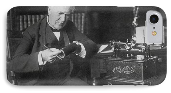Thomas Edison, American Inventor Phone Case by Omikron