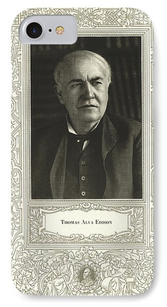 Thomas Edison, American Inventor Phone Case by Science, Industry & Business Librarynew York Public Library