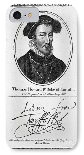 Thomas Howard (1536-1572) Phone Case by Granger