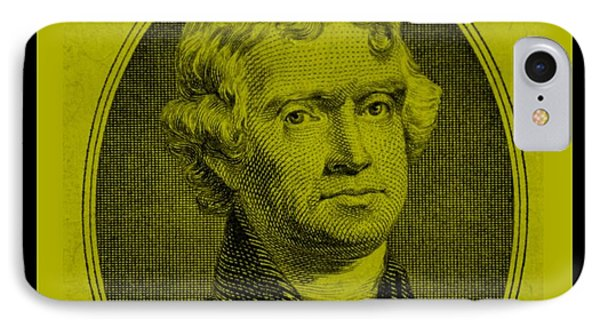 Thomas Jefferson In Yellow Phone Case by Rob Hans