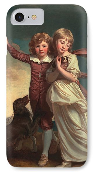 Thomas John Clavering And Catherine Mary Clavering IPhone Case by George Romney