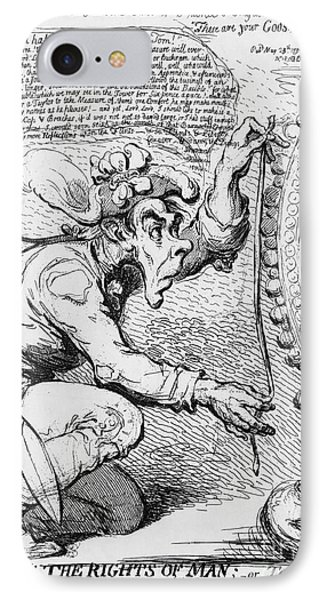 Thomas Paine Caricature IPhone Case