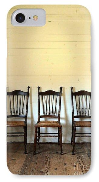 Three Antique Chairs Phone Case by Jill Battaglia