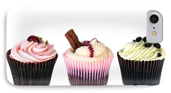 Three Cupcakes Phone Case by Jane Rix