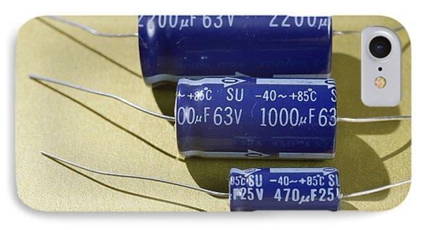 Three Electrolytic Capacitors IPhone Case