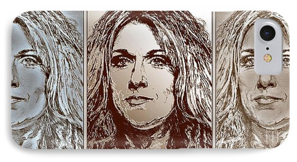 Three Interpretations Of Celine Dion Phone Case by J McCombie