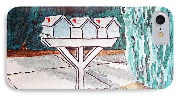 Three Mailboxes Sketchbook Project Down My Street Phone Case by Irina Sztukowski
