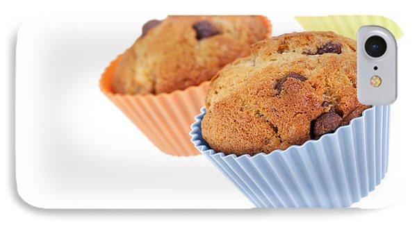 Three Muffins Phone Case by Jane Rix