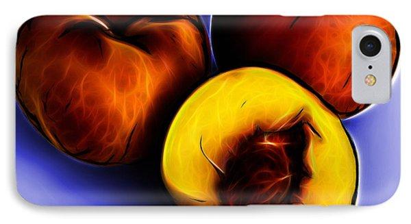 Three Peaches - Blue Phone Case by James Ahn