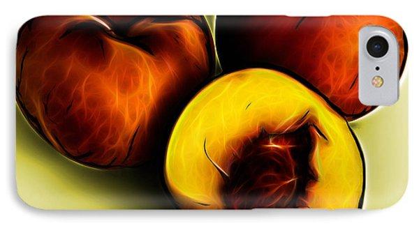 Three Peaches - Yellow Phone Case by James Ahn