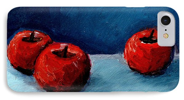 Three Red Apples IPhone Case by Michelle Calkins