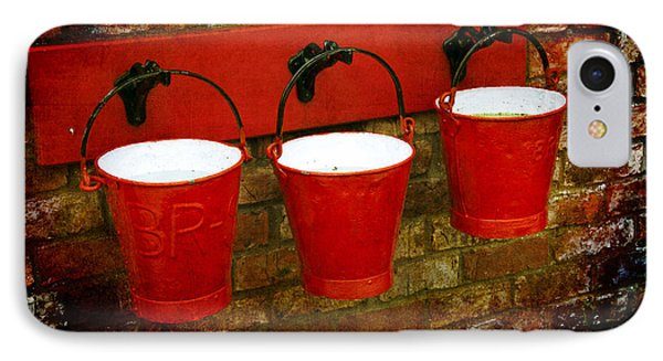 Three Red Buckets Phone Case by Svetlana Sewell