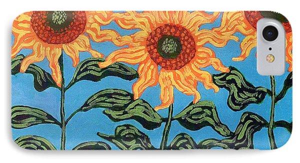 Three Sunflowers IIi Phone Case by Genevieve Esson