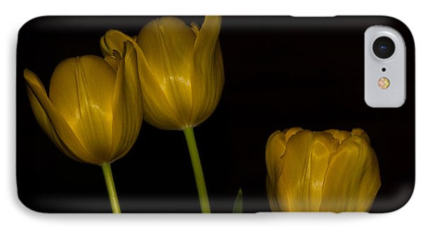 IPhone Case featuring the photograph Three Tulips by Ed Gleichman
