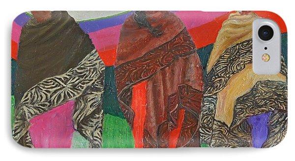 Three Women IPhone Case by Judith Espinoza