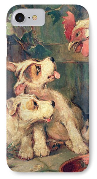 Three's A Crowd Phone Case by Philip Eustace Stretton