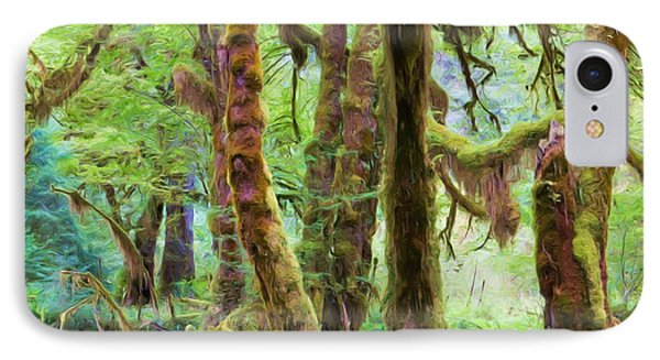Through Moss Covered Trees Phone Case by Heidi Smith