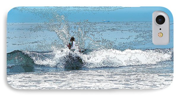 IPhone Case featuring the photograph Through  The Wave Blues by Maureen E Ritter
