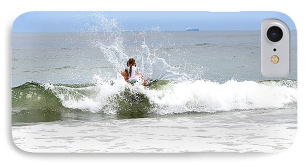 IPhone Case featuring the photograph Through The Waves by Maureen E Ritter
