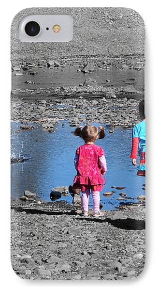 Throwing Stones Phone Case by Paul Ward