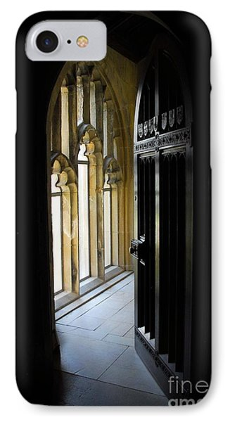 IPhone Case featuring the photograph Thru The Chapel Door by Cindy Manero
