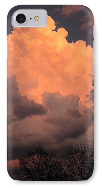 IPhone Case featuring the photograph Thunderhead In Twilight by Scott Rackers