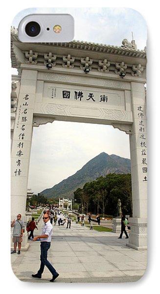 Tian Tan Buddha Entrance Arch Phone Case by Valentino Visentini