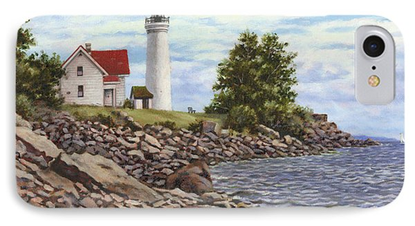 Tibbetts Point Lighthouse Phone Case by Richard De Wolfe