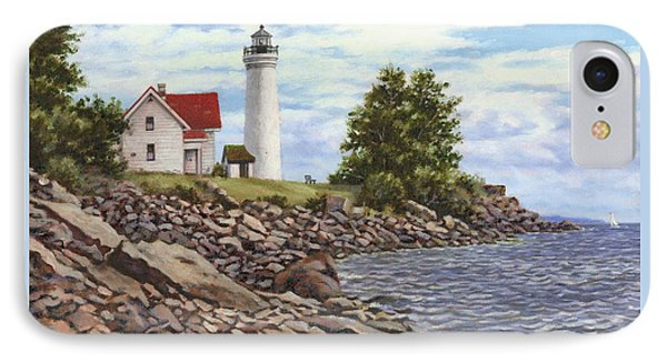 Tibbetts Point Lighthouse IPhone Case by Richard De Wolfe