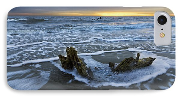 Tides At Driftwood Beach Phone Case by Debra and Dave Vanderlaan