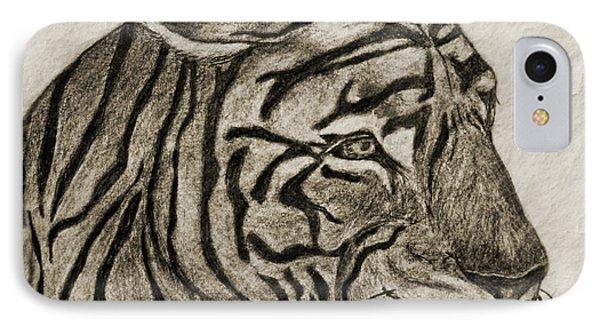 Tiger Iv Phone Case by Debbie Portwood