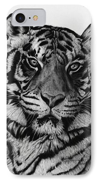 Tiger Phone Case by Jyvonne Inman