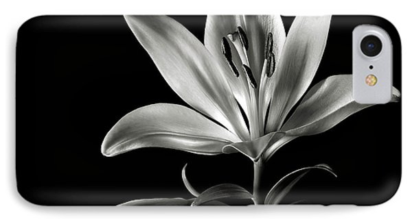 Tiger Lily In Black And White IPhone Case by Endre Balogh