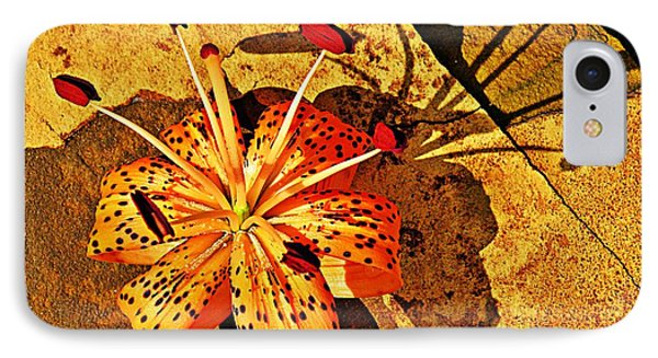 Tiger Lily Still Life  Phone Case by Chris Berry