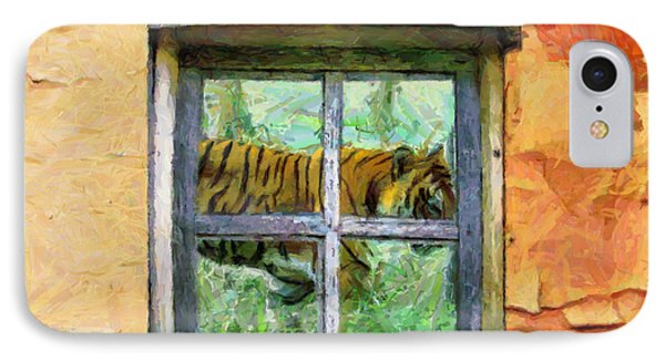 Tiger Outside My Window IPhone Case