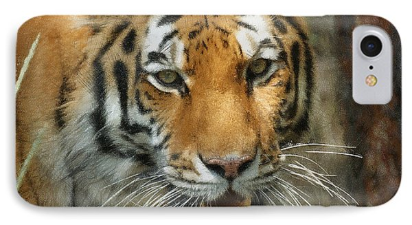 Tiger Painterly Square Format  Phone Case by Ernie Echols