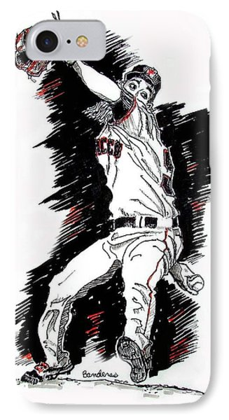 IPhone Case featuring the painting Tim Lincecum by Terry Banderas