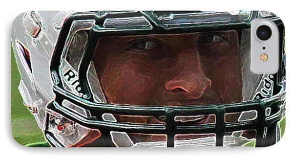 Tim Tebow Art Deco Close-up - New York Jets -  IPhone Case