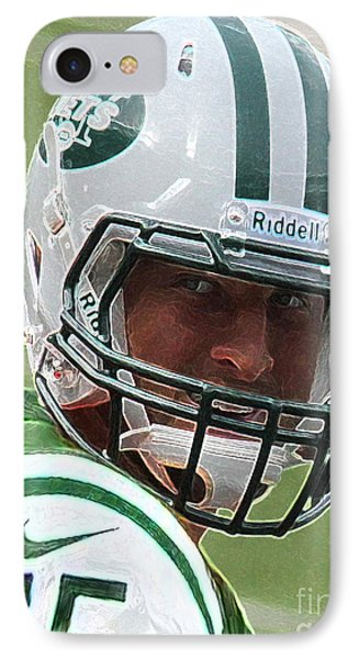 Tim Tebow Art Deco IIi - New York Jets -  Phone Case by Lee Dos Santos