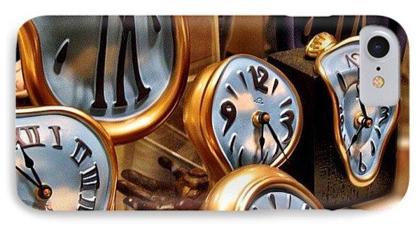 Time Is Melting Away #clocks #clocks IPhone Case