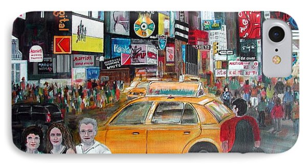 IPhone Case featuring the painting Times Square by Anna Ruzsan