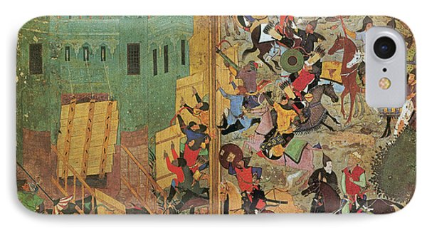 Timur And The Siege Of Smyrna 1402 Phone Case by Photo Researchers