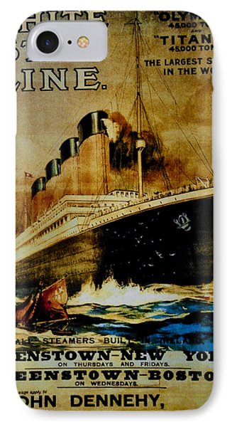 Titanic - White Star Line Phone Case by Bill Cannon