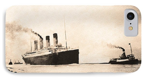 Titanic - Heading Out To Sea IPhone Case by Bill Cannon