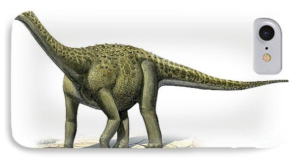 Titanosaurus Indicus, A Prehistoric Era Phone Case by Sergey Krasovskiy