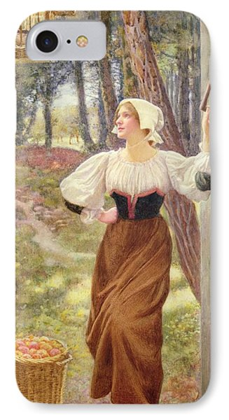 Tithe In Kind IPhone Case by Edward Robert Hughes
